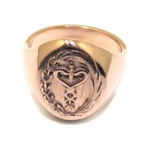 Anillo sello profesion MEDICINA plata rosa
