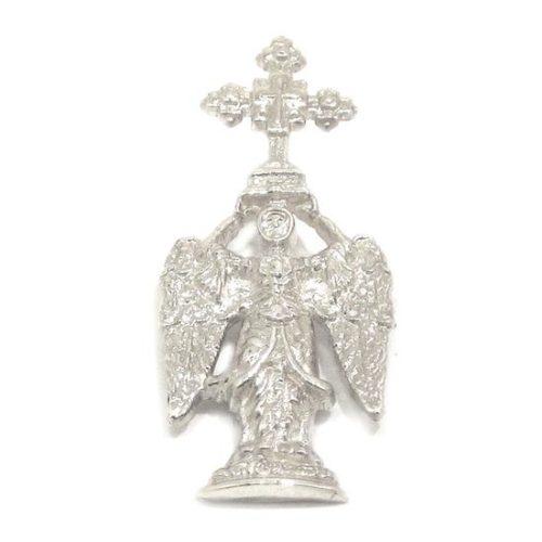 Colgante San Miguel Aralar 27mm plata