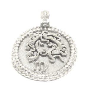 Medalla zodiaco virgo 22mm plata