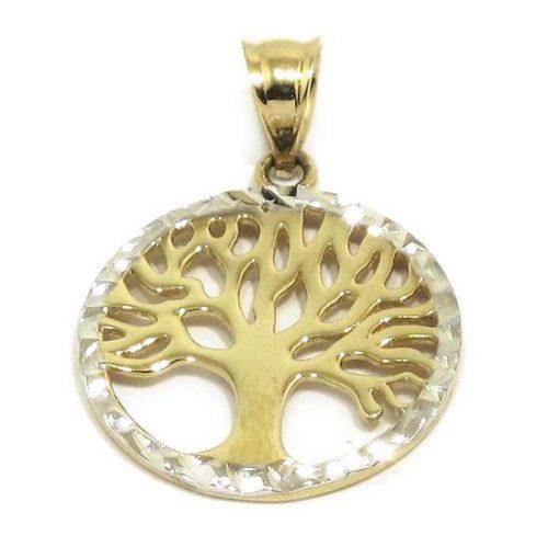 Colgante arbol vida 16mm oro
