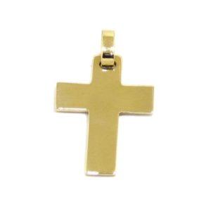 Colgante Cruz recta 20mm oro amarillo