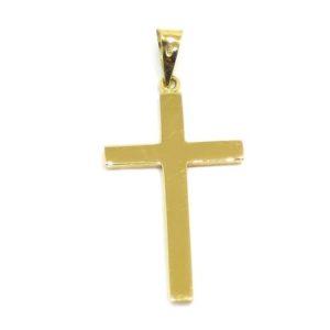 Colgante Cruz recta 25mm oro amarillo