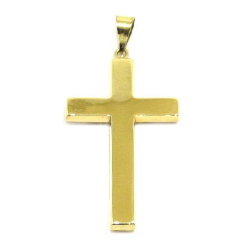 Colgante Cruz recta 29mm gruesa oro amarillo
