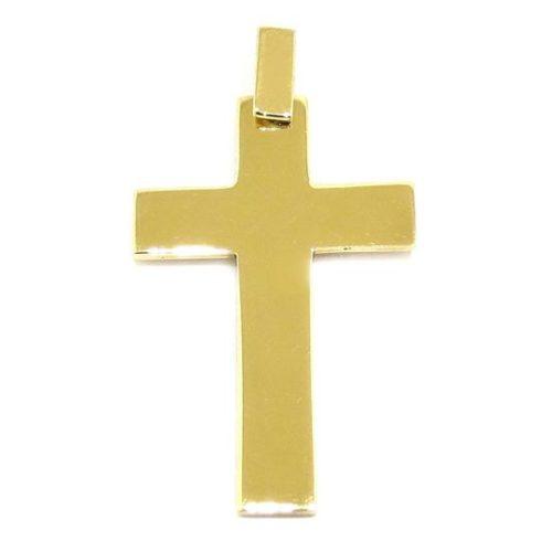 Colgante Cruz recta 31mm oro amarillo