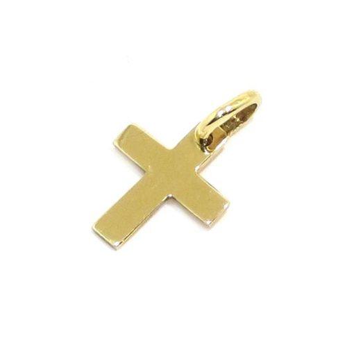 Colgante Cruz recta 11mm oro amarillo