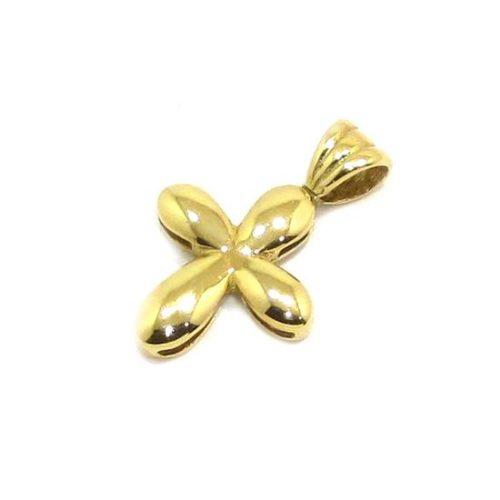 Colgante Cruz ovalos 11mm oro amarillo