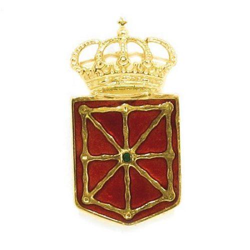 Pin escudo Navarra 22mm esmaltado oro amarillo